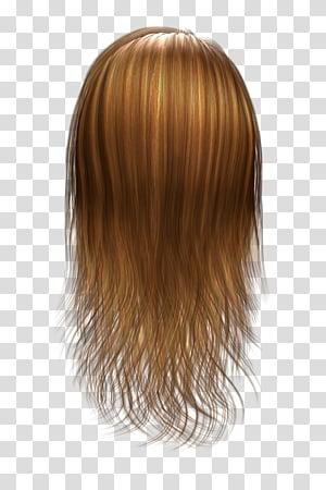 Hair Texture Renders , long brown hair illustration.