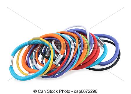 Stock Image of hair tie.