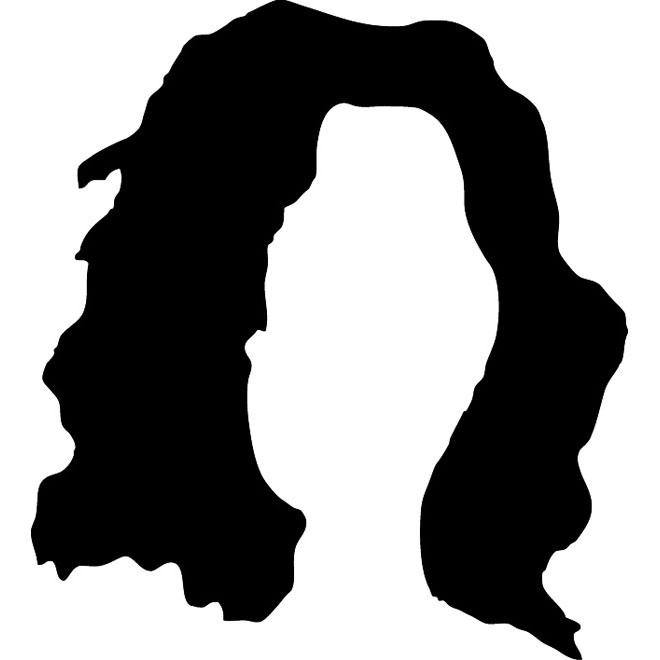 Hair vector silhouette.