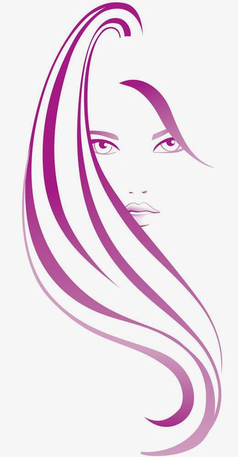 Vector Hair, Vector, Hairdressing, Beauty PNG Transparent.