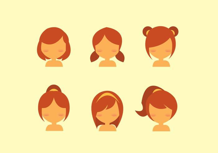 Kids Hair Style Vector.