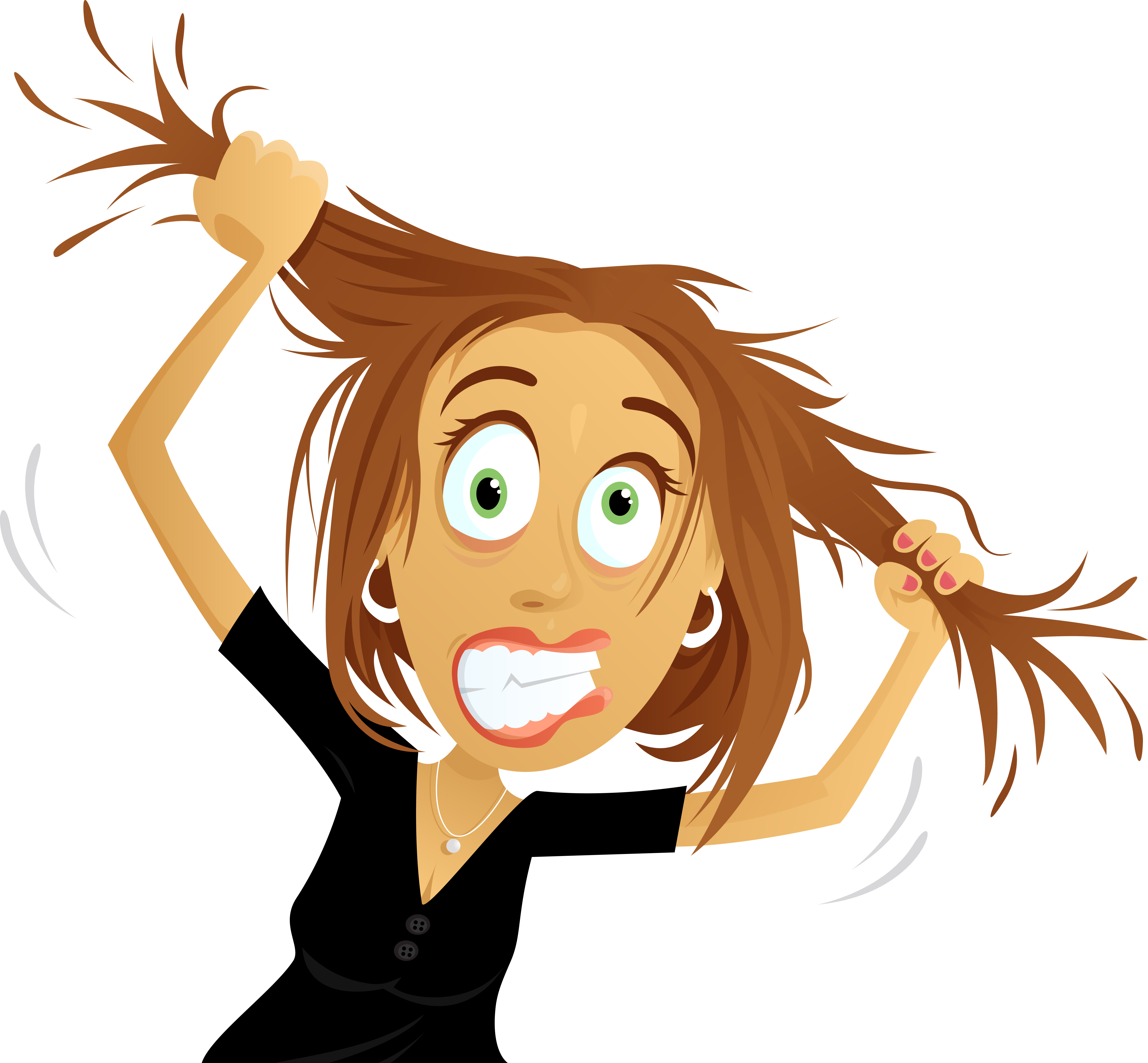 Pulling Your Hair Out Clipart.