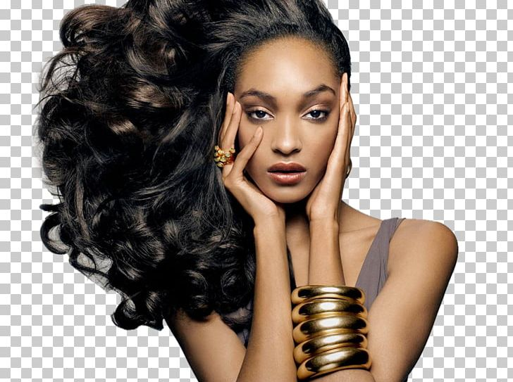 Jourdan Dunn New York Fashion Week Hairstyle Model PNG.