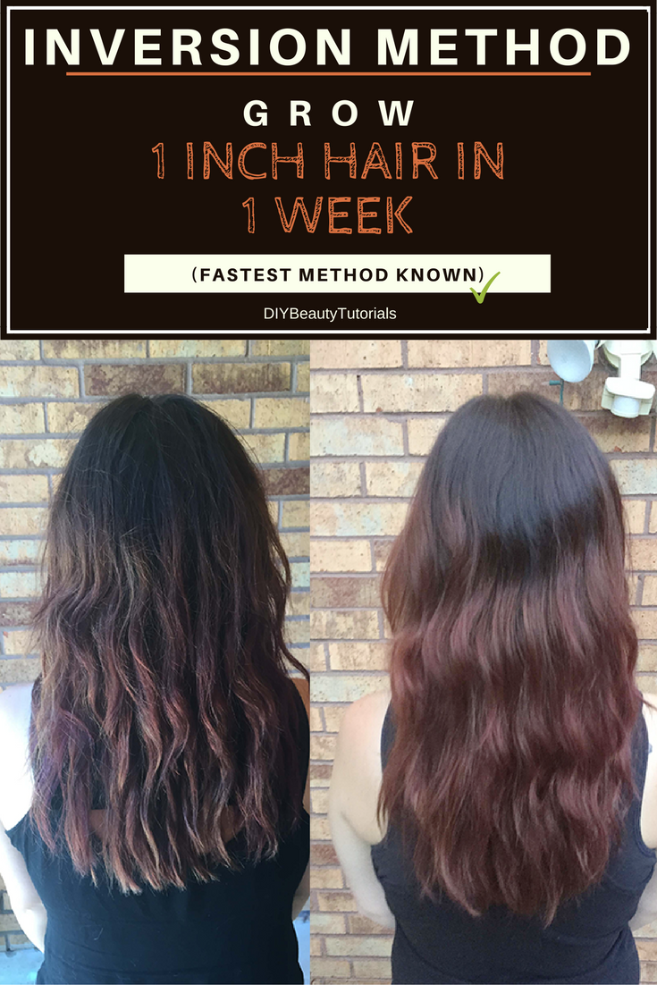 Inversion Method: Grow 1 INCH of Hair in 1 WEEK (Fastest Results.