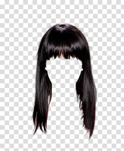 Wig Hairstyle Bangs, hair transparent background PNG clipart.