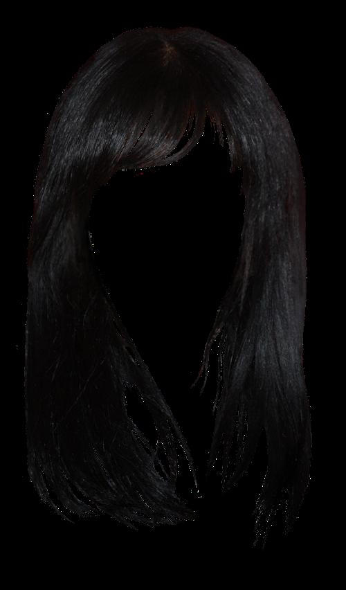 Black hair Brown hair Bangs Hairstyle.