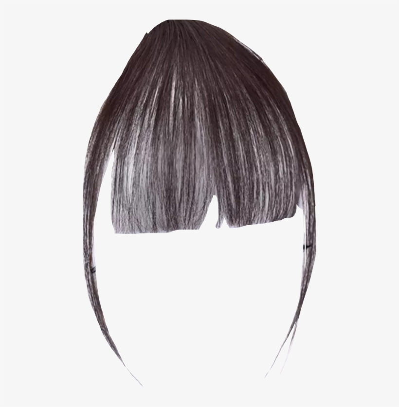 Hair Fringe Png Clipart Black And White.