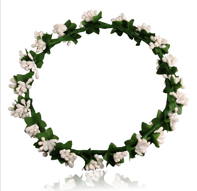 Woodland Flower Crown Hair Wreath,Braided Floral Hair Band,Hawaii.