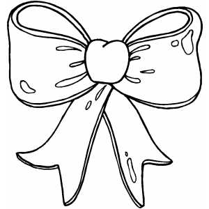 hairbow outline clipart Clipground