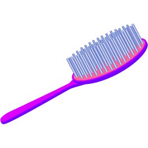 Hairbrush clipart round brush, Hairbrush round brush.
