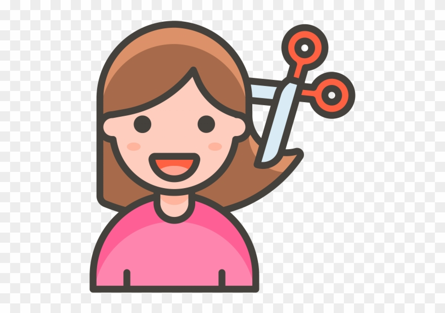 Woman Getting Haircut Emoji.