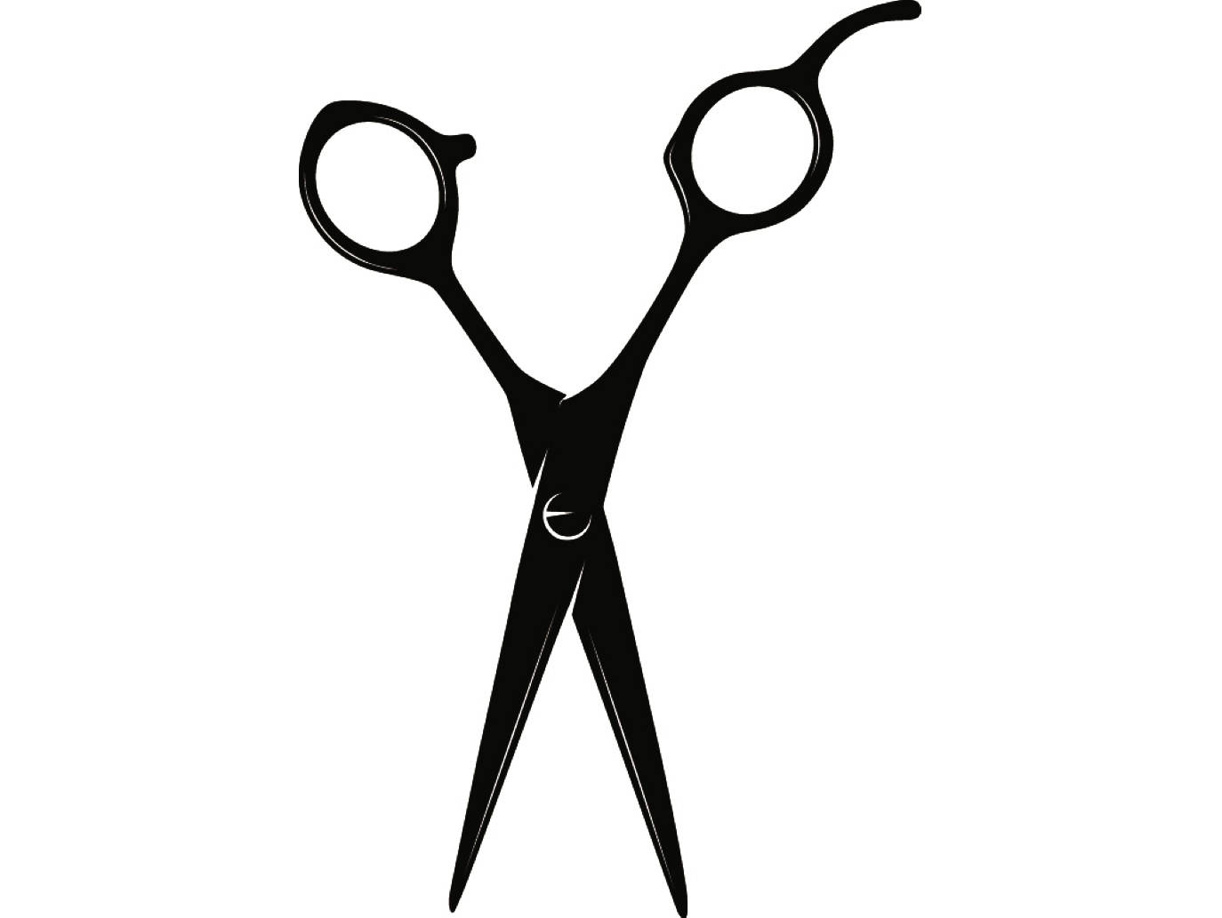 Hair Cutting Scissors Clipart.
