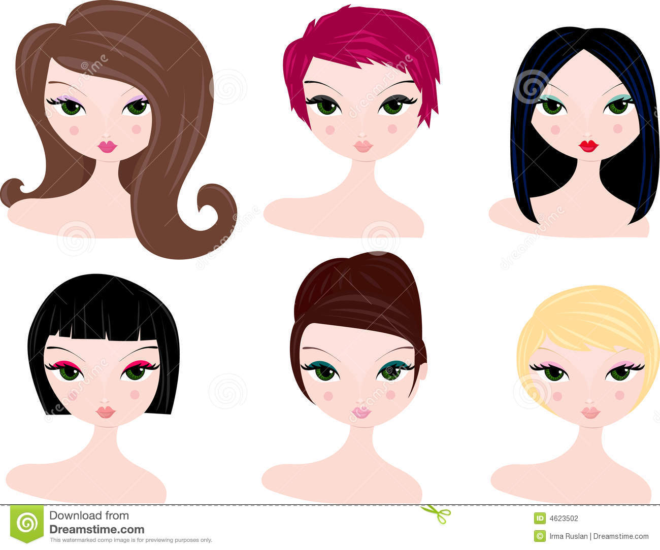 Hairstyles Clip Art Free.