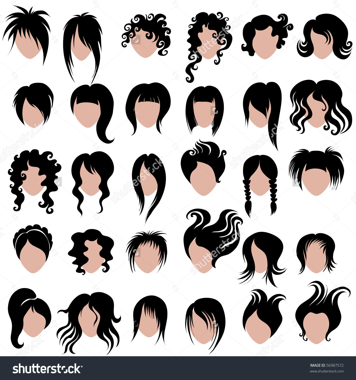 Hair Do Clip Art.