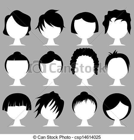 Clip art hair styles.