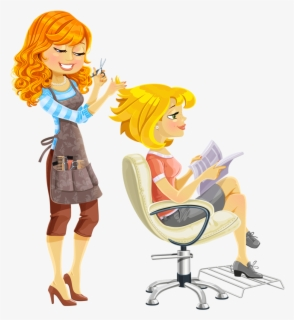 Free Hairdresser Clip Art with No Background.