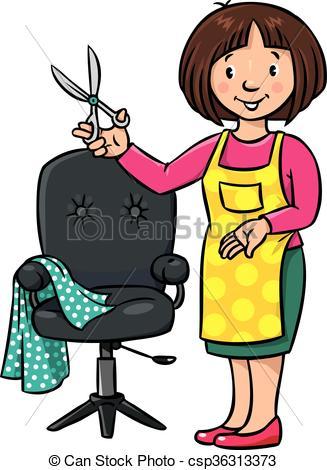278 Hairdresser free clipart.