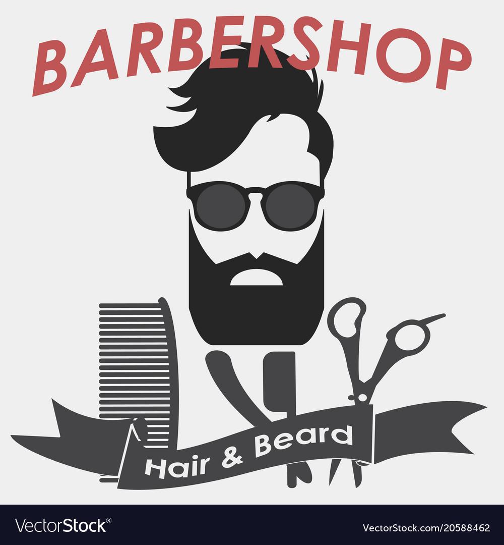 Barbershop logo hairdresser.