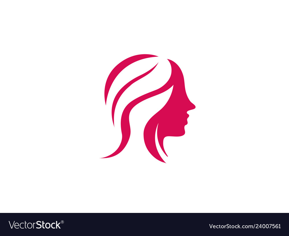 Hairdresser woman beauy and makeup for logo design.