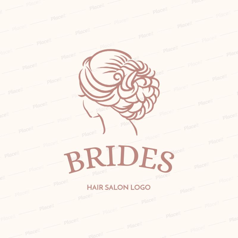 Logo Maker for Bridal Makeup Artists and Hairdressers 1153f.