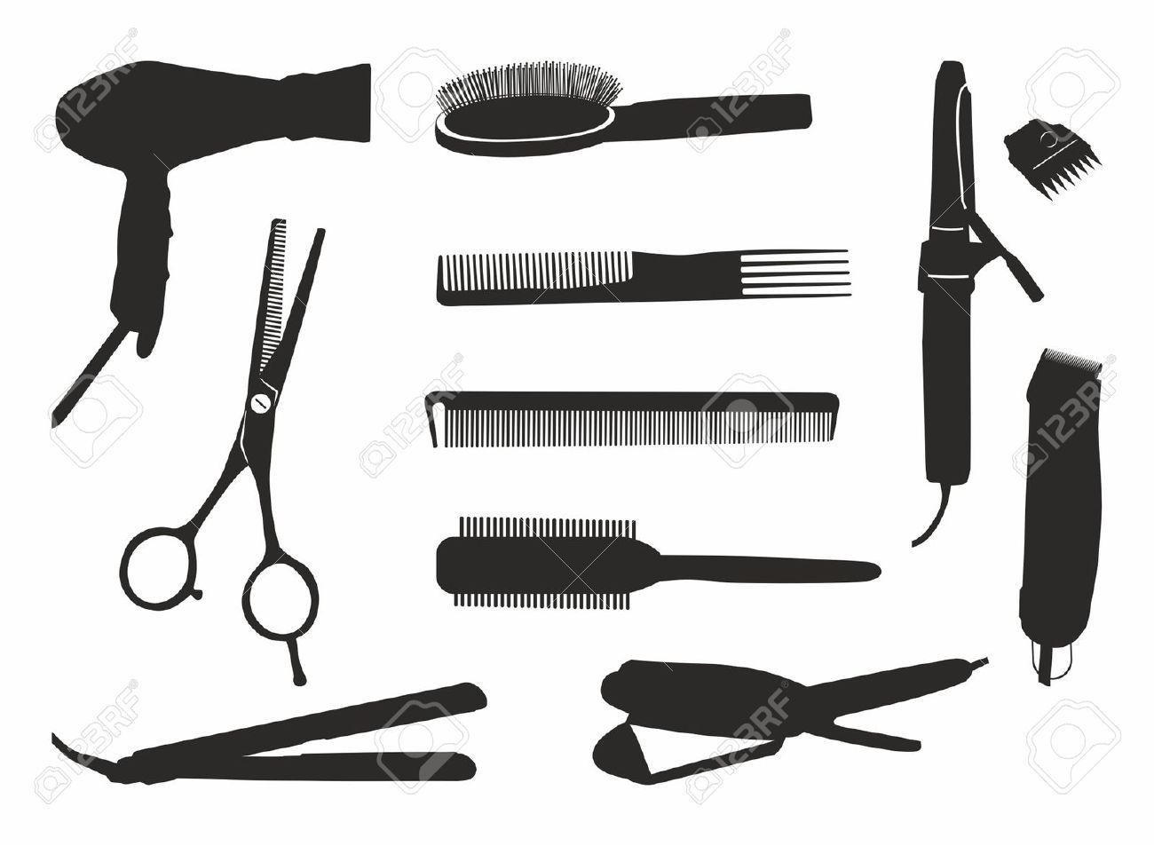 hair stylist tools clipart.