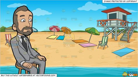 clipart #cartoon A Man With A Receding Hairline and Summer.