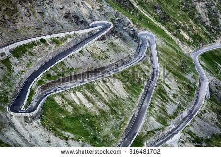 Hairpin Turn Stock Images, Royalty.