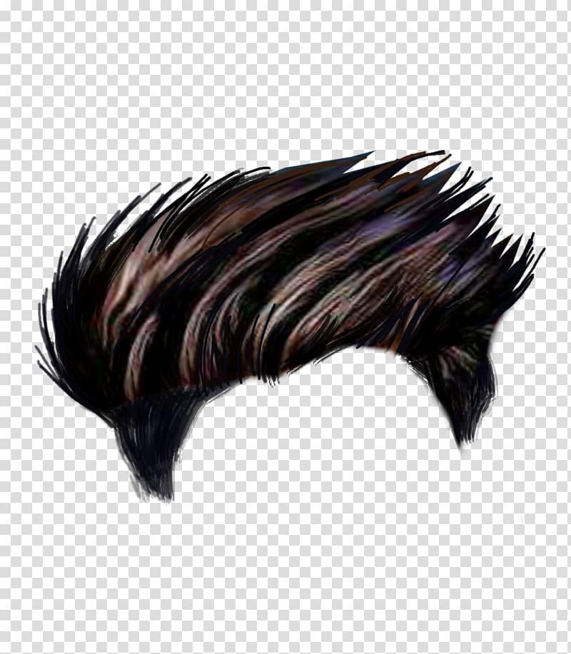 Man's black hair illustration, Hairstyle PicsArt Studio Editing.