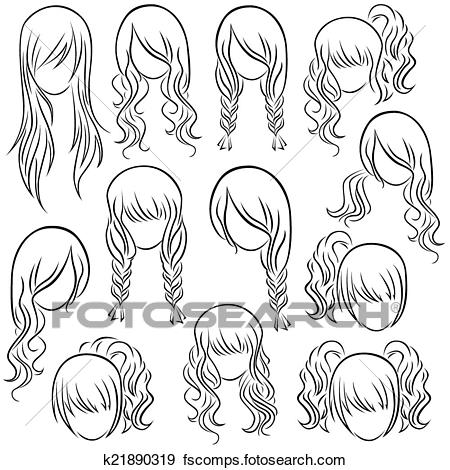 Clipart Girl Hairstyle.
