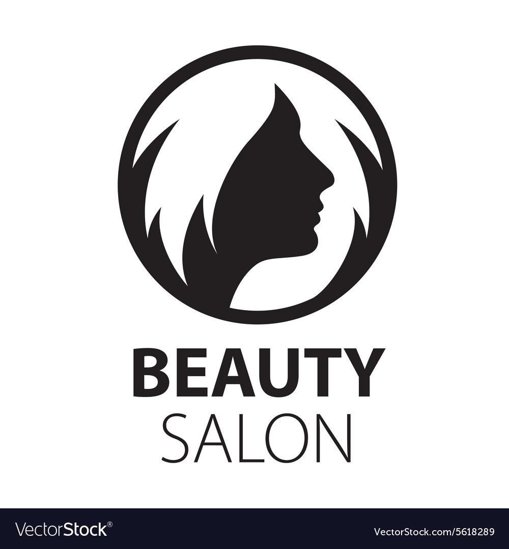 Round logo womens hairstyle.
