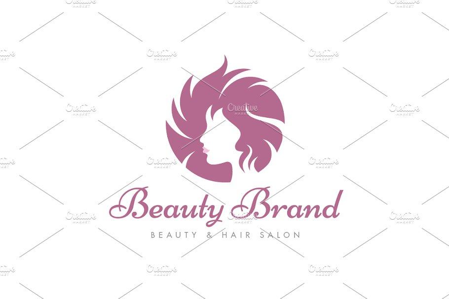 Sunburst Hairstyle Logo.