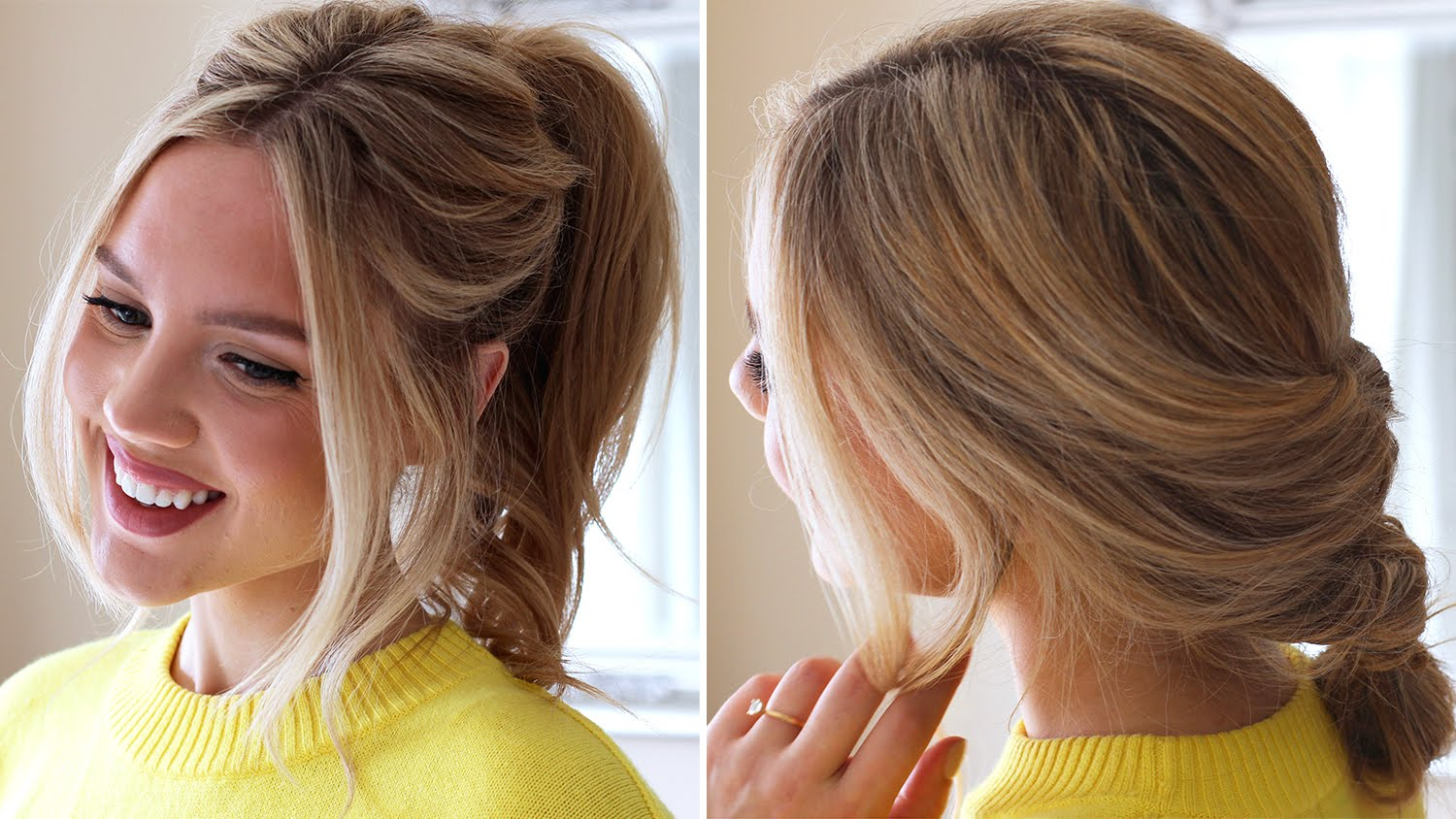 3 Easy Running Late Hairstyles.