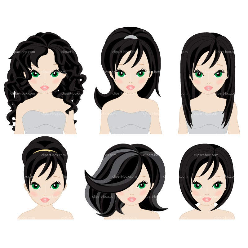 CLIPART HAIRSTYLES.