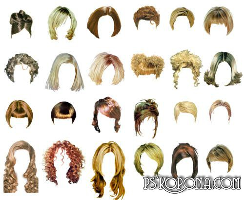 Hairstyles For Women Clipart.