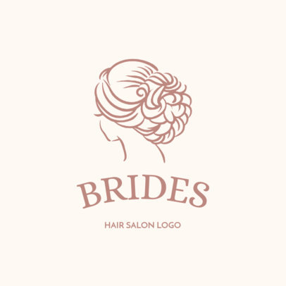 Logo Maker for Bridal Makeup Artists and Hairdressers 1153f.