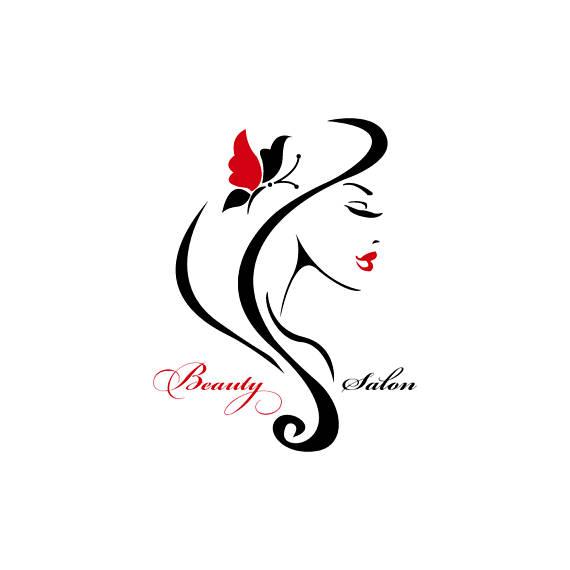 Beauty logo design, png and pdf format files, elegant woman.