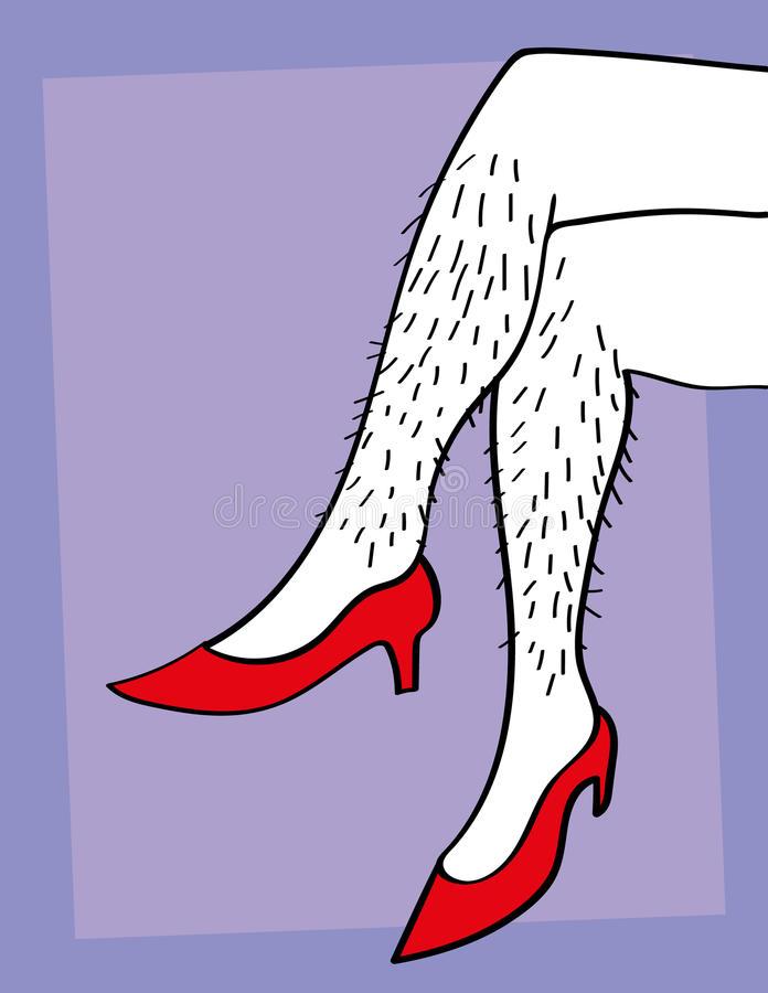 Hairy Legs Stock Illustrations.