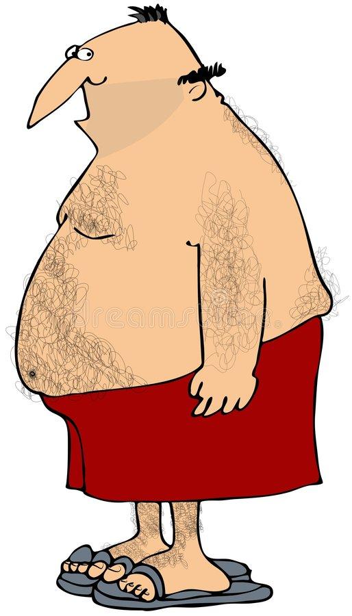 Hairy Man Stock Illustrations.
