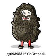 Hairy Man Clip Art.