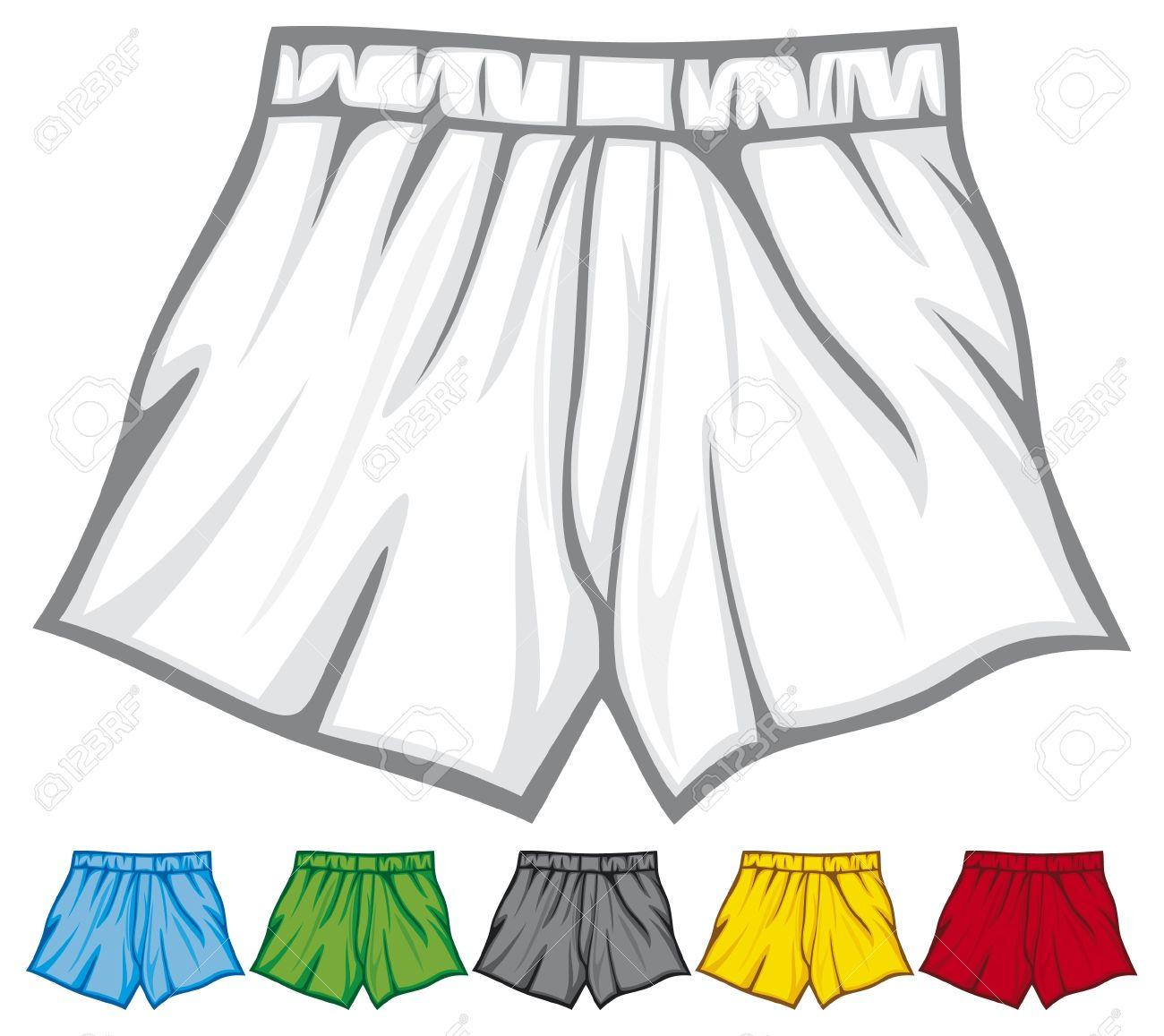 Man In Underwear Clipart.