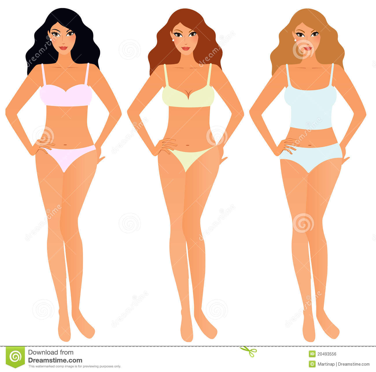 Clipart Body In Underwear.