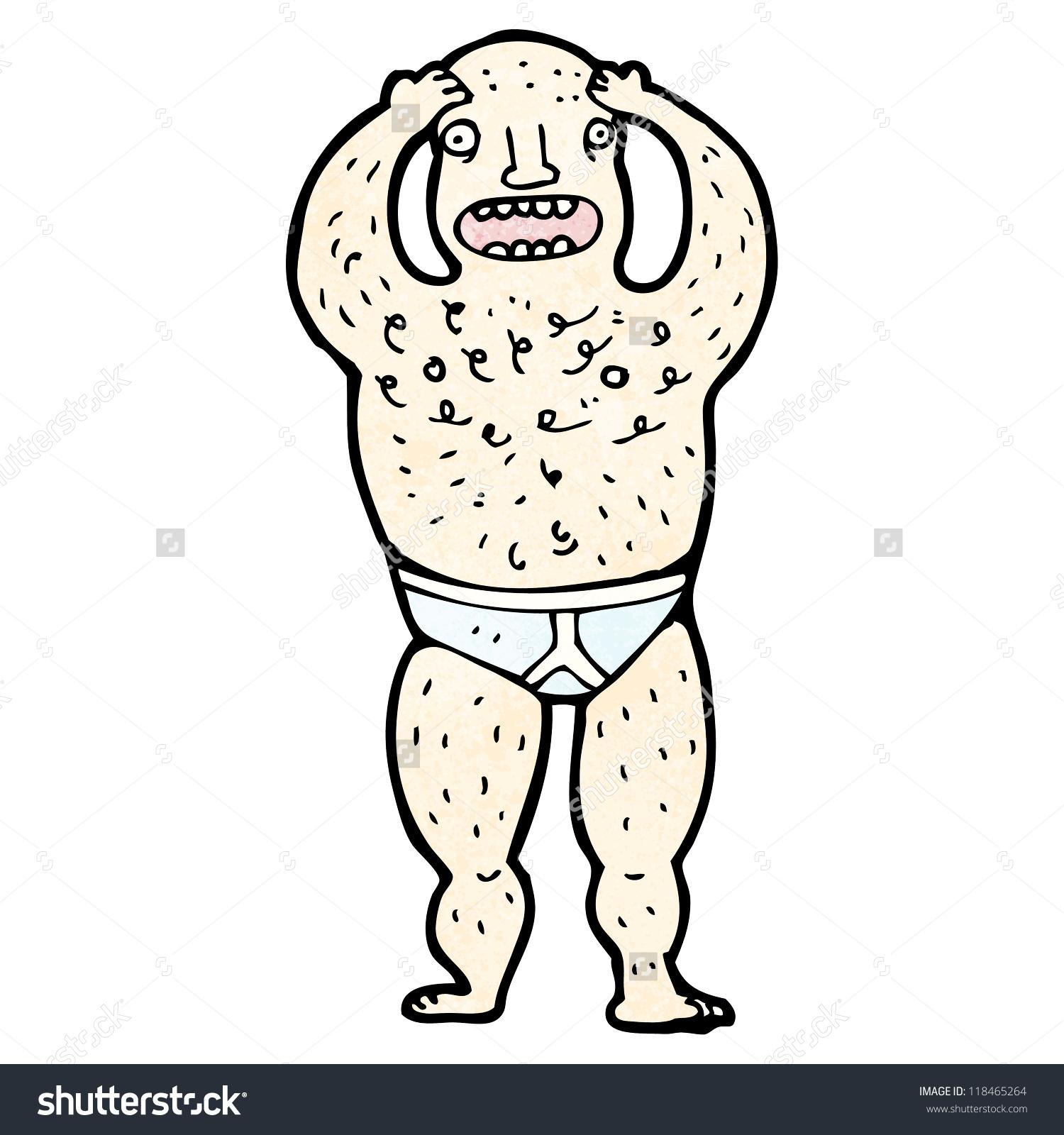 Cartoon Hairy Man Underpants Stock Vector 118465264.