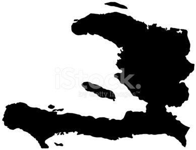 Haiti Map Clipart Image.