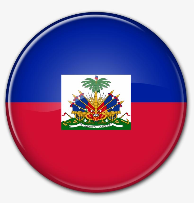 Round Flag Of Haiti.
