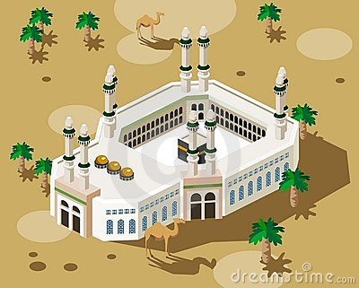 Hajj Stock Illustrations.