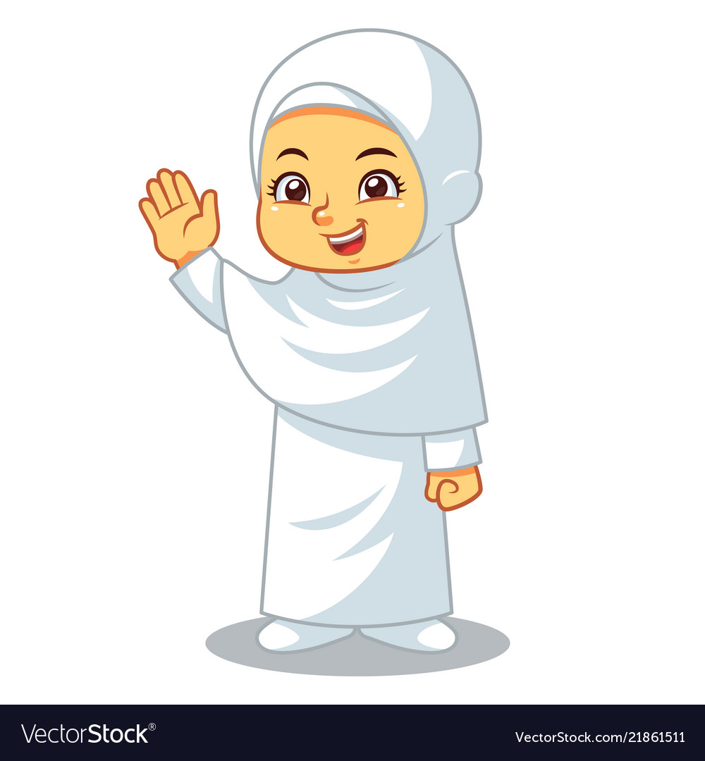 Moslem girl hajj.