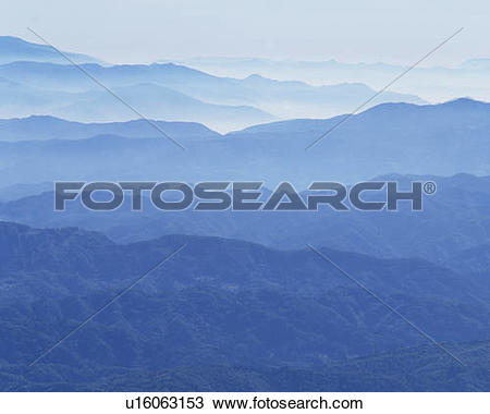 Stock Photo of Mountain range, Hakuba.