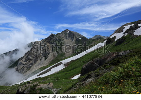 Hakuba Daisekkei Trail (Big Snow Valley) In Mt. Shirouma, Nagano.