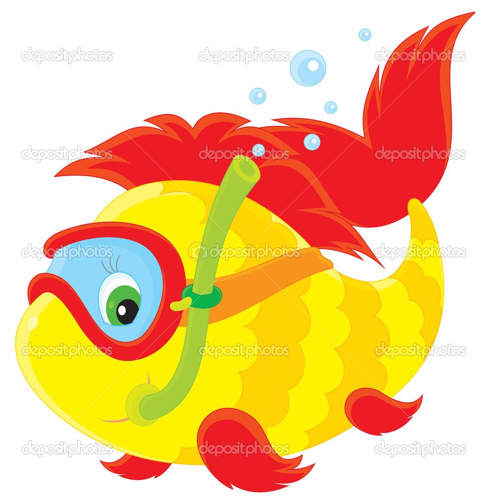 Fish diver — Stock Vector © AlexBannykh #10056960.