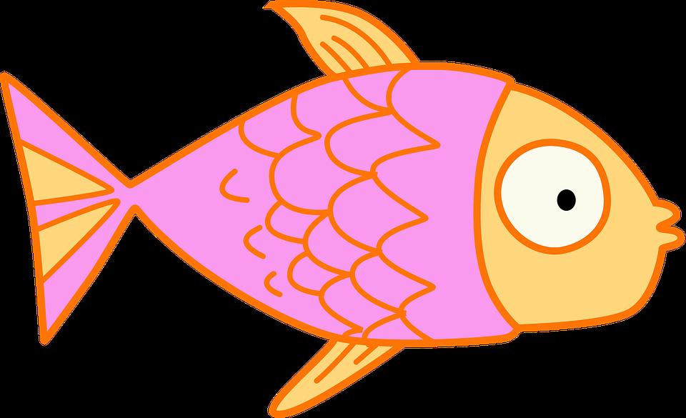 Free illustration: Fish, Kids, Clip Art, Pink, Cartoon.